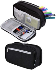 Big Capacity Pencil Case, Pen Case Large Pencil Bag Pouch Stationery Office Bag