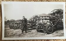 1940s military photo snapshot tanks? shells of army vehicles photograph old