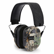 Walkers Ultimate Hunting Shooting Aft Electric Power Muff Quads, Realtree Camo