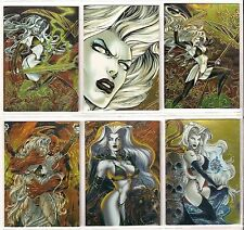 1999 LADY DEATH Night Gallery GOLD FOIL METALTEX Chase SINGLE CARDS