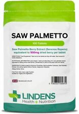 Saw Palmetto 500mg 100 Tablets Lindens Health + Nutrition (0670)