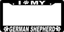 GERMAN SHEPHERD PAW PRINT DOG License Plate Frame