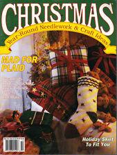Christmas Year-Round Needlework & Craft Ideas September October 1991 Plaid/Towel