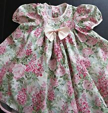 NWOT Bonnie Jean Girl Wisteria Roses Floral Pink Tulle Dress Easter Party Sz 4T