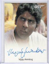 James Bond 50th Anniversary Vijay Amritraj auto card