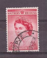 S.RHODESIA,  1953 QE11 CORONATION, 2/6d  SG 77  GOOD USED