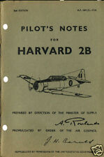 PILOT'S NOTES: HARVARD 2B RAF/RCAF TRAINER 50pps +FREE 2-10 PAGE INFO PACK