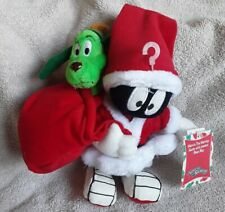 Looney Tunes Marvin the Martian + K9  Santa With Present Bean Bag Plush soft toy