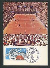 France Mk 1978 tenis roland garros maximum tarjeta Carte maximum card mc cm c9133