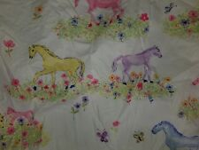 """Company Store Kids """"Colorful Ponies"""" Twin Fitted Sheet"""