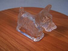 Scottish Terrier Dog Glass Candy Container - circa. pre - 1960's Vintage