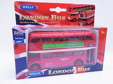 22626 Welly London Bus Doppeldeckerbus geschlossen rot Die-Cast Modellauto NEU