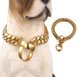 New Dog Collar Gold Chain Choker Training Collars for Large Dogs Pitbull Bulldog