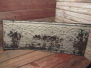 "Vintage Antique Metal Tin Ceiling Tile 48""X18"" Reclaim Salvage Tile Victorian!"