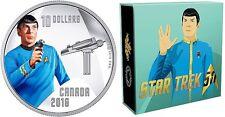2016 Canada 1/2 Oz Silber 10 CAD First Officer Spock 50 Jahre Star Trek