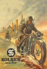 Deutsche Kradmelder Wehrmacht Blechschild Schild gewölbt Tin Sign 20 x 30 cm