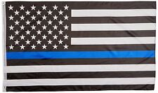 3' x 5' Thin Blue Line American Flag - Police Lives Matter - Law Enforcement