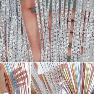 String Curtain Hanging Beaded Panels Door Fly Screen Room Glitter Net Divider