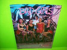 Gottlieb BAD GIRLS Original 1988 Flipper Game Pinball Machine Promo Sales Flyer
