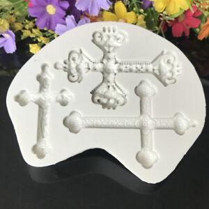 Cross Shape Silicone Resin Fondant Moulds Cake Decorating DIY Mold Handmade Tool