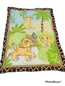 "Disney Baby Lion King Baby Comforter Quilt 3D Jungle Print Crib 42"" X 33"" Simba"