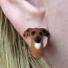 Italian Greyhound Tiny One Dog Head Post Earrings Jewelry