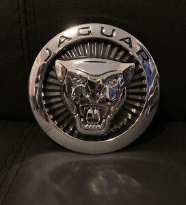 JAGUAR Black Front Grille Emblem F-Type F-Pace XE XF XFR XFR-S XJ XJR 2014-2019