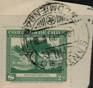 Chile 1948 Serie Gay Green postmark Santiago used (A526)