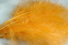 12 x plumes de MARABOU ORANGE PASTEL 12 a 17 cm montage fly tying feather