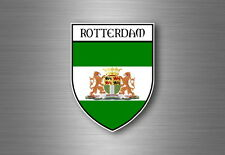 Sticker Decal Souvenir Car Coat of Arms Shield City Flag Rotterdam Netherlands