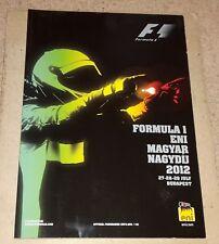 2012 HUNGARIAN GRAND PRIX F1 PROGRAMME (Formula 1)
