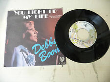 """DEBBY BOONE""""YOU LIGHT UP-disco 45 giri WB Italy 1977"""" PERFETTO-OST"""