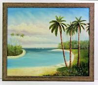 Beach Shore Seascape  20 x 24 Oil Painting on Canvas w/ Custom Frame