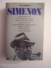 SIMENON - Tout Simenon - Tome 1  / Presses de la Cité - 1988  ( 9 romans )