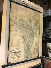 original 1863 Lloyd's Railroad, Telegraph & Express MAP of Eastern States