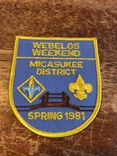 Micasukee District Webelos Weekend 1981 West Central Florida Council BSA C-357