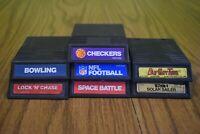 Intellivision 7 Game Lot Bundle Tron, Burger Time, Space Battle, Lock 'n' Chase