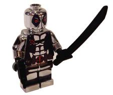 **NEW** LEGO Custom Printed - CHROME X-FACTOR DEADPOOL - Marvel Minifigure