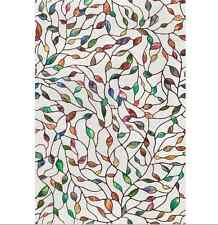 Artscape Leaf Privacy Window Film Decor Floral Stained Glass Textured 24 x 36 In