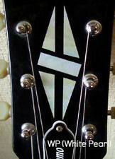 H-111DH-WT Inlay Stickers, Diamond Hatch Decals Headstock Peghead (WS)