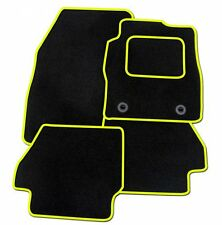 RENAULT SCENIC 2009 ONWARDS TAILORED BLACK CAR MATS WITH YELLOW TRIM