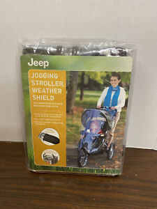 NEW JEEP Jogging Stroller Weather Shield Clear Plastic-With Essential Pocket!