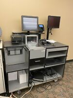 Killion Retail Check Out Counter w/ Magellan 9500 Scanner Verifone Card Payment