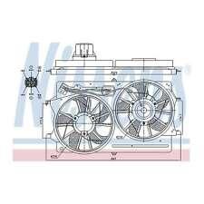 Fits Ford Focus MK1 1.8 TDCi Genuine Nissens Engine Cooling Radiator Fan