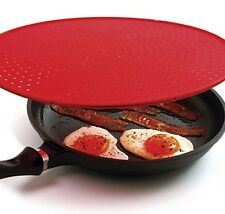 """Norpro 2064 Red LARGE SILICONE SPLATTER SCREEN 12.5"""""""