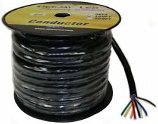 Deejayled TBH108C100 100-foot 8-conductor 10 Gauge Stranded Cable W/single Black