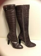 PELLE MODA BOOTS NEW WITHOUT BOX SIZE 6 M GREY COLOR , FAUX ALLIGATOR SKIN,