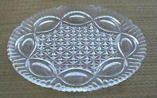 Vintage Art Deco(?) Cut Glass/Crystal(?) Dressing Table Tray