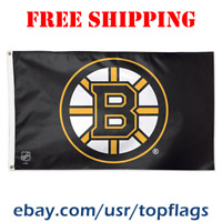 Deluxe Boston Bruins Logo Flag Banner 3x5 ft 2019 NHL Hockey Fan Gift NEW