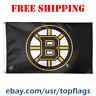 Deluxe Boston Bruins Logo Flag Banner 3x5 ft 2019 NHL Hockey Fan Gift NEW